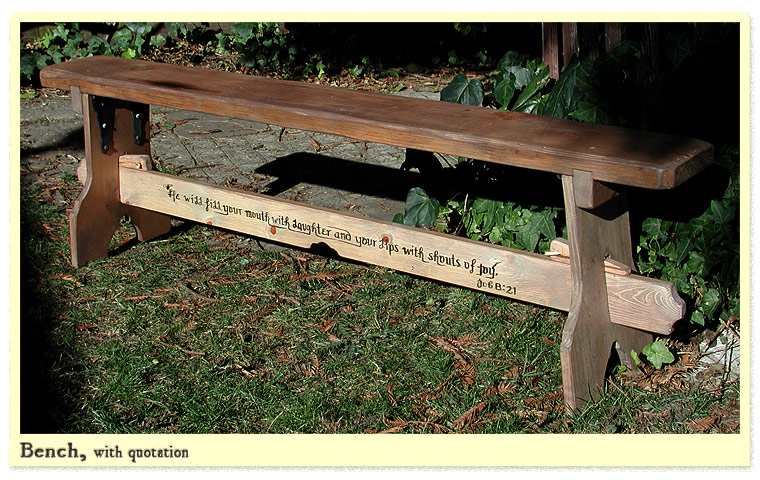 Bespoke Work - long wooden benches